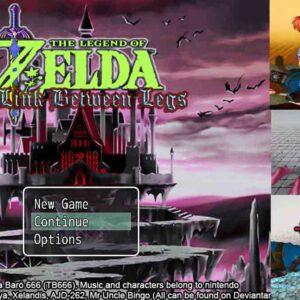 La légende de Zelda un lien entre les jambes